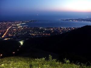 Ночной пляж Геленджика